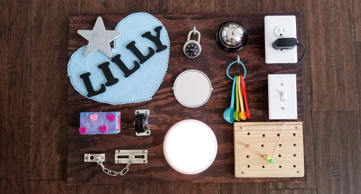 How to make a busy board for little ones