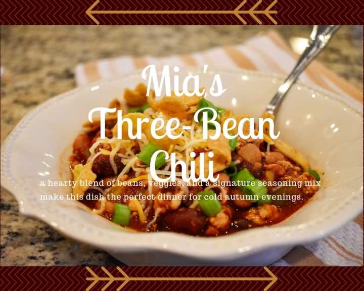 Mia's Three-Bean Chili Recipe
