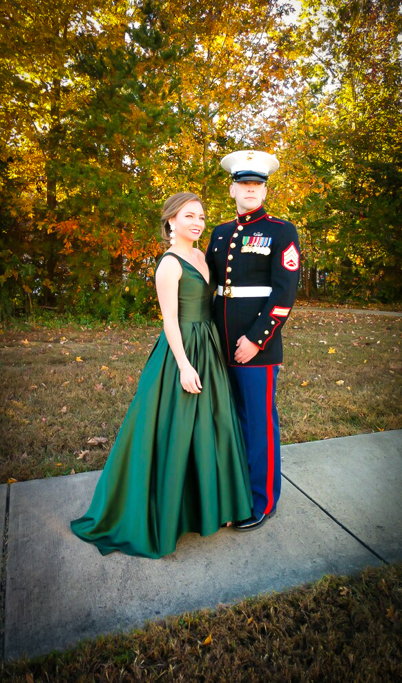 Elegant in Emerald + Marine Corps Birthday Ball