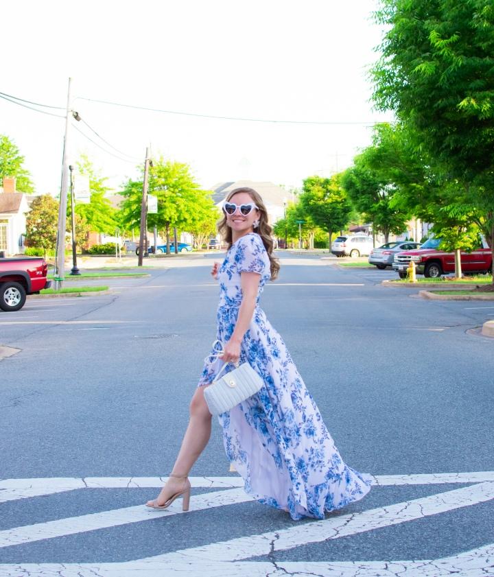 Blue Floral MaxiDress