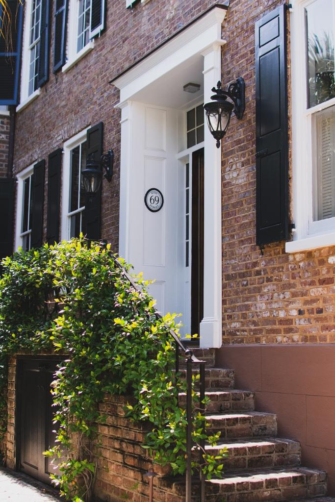 Brick historic home on King Street, Charleston