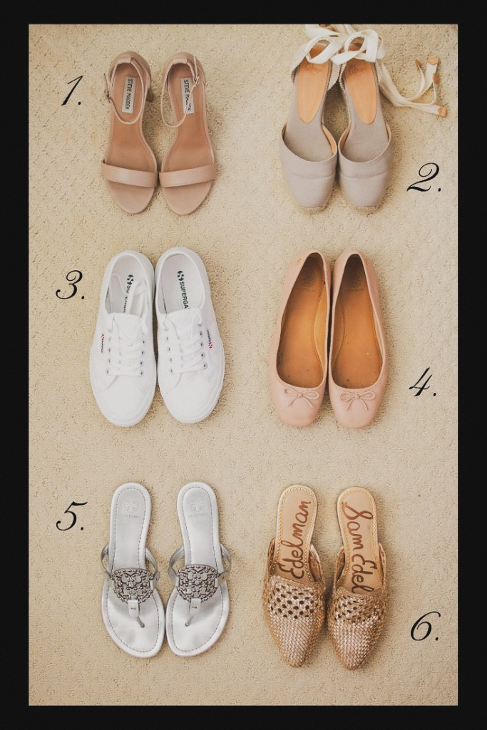 6 types of shoes to pack for summer trips