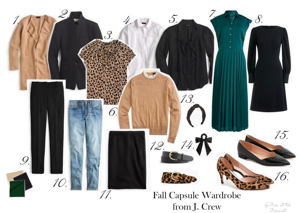 Fall capsule wardrobe.