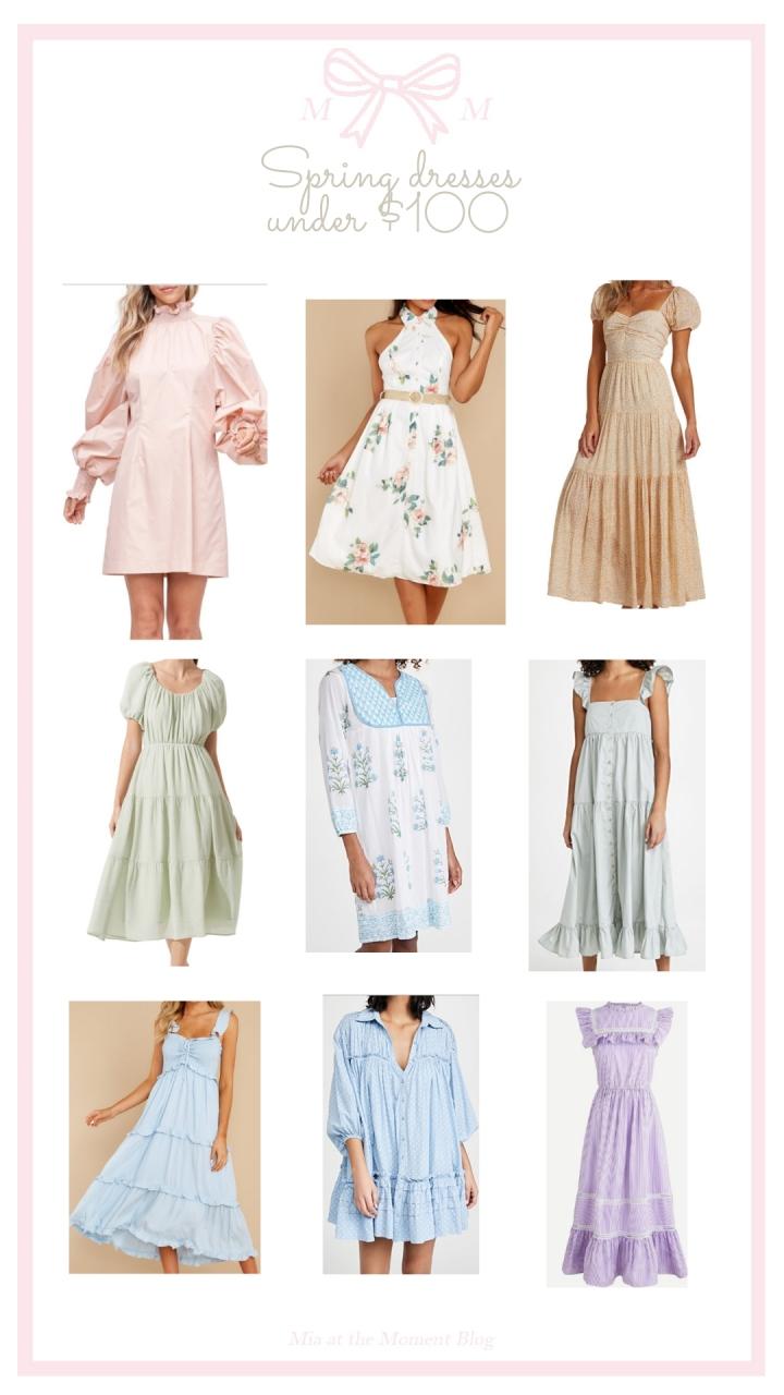 Spring Dresses Under$100
